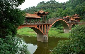 Brücke in Leshan, Sichuan